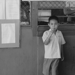 That day, the children were served pizza and ice cream for lunch. Usually, the older orphans cook the meals themselves, but a volunteer decided to bring in a meal. Pizza is a luxury food in Thailand because parlors are generally only in malls and other high-end places.