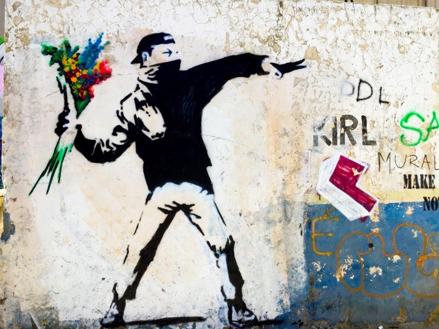 Banksy Painting in BethlehemEDITED
